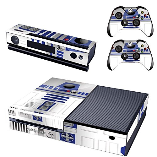 Vanknight Vinyl Decal Skin Sticker Cover R2D2 Robot Star Wars for Xbox One Console Kinect 2 Controllers