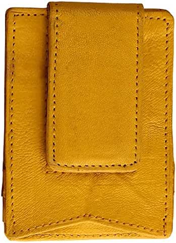 AimTrend Leather Magnetic Money Clip with Multi Credit Card Slots