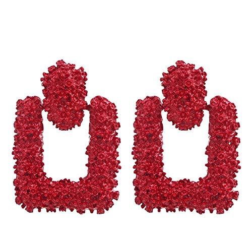 - Golden/Silver Raised Design Statement Earrings