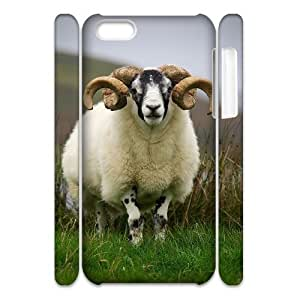 Cell phone 3D Bumper Plastic Case Of Sheep For iPhone 5C