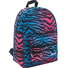 Telosports Lightweight Casual Backpack School Bag Travel Daypack (Colored zebra stripes)