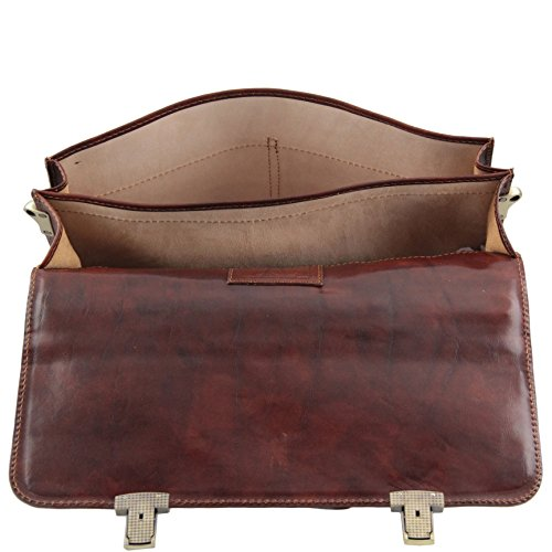 81411444 - TUSCANY LEATHER: Bolgheri Serviette / Messsenger en cuir, marron