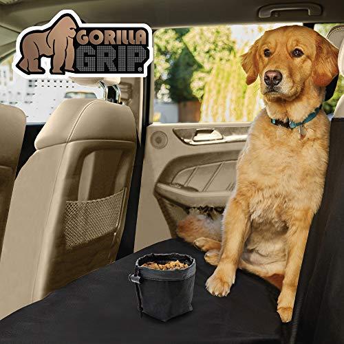 Gorilla Grip Original Premium Slip-Resistant Pet Car Seat Protector for Pets, Durable Protectors for Cars, Truck, SUV, Underside Grip, Waterproof, Seat Belt Openings, Pocket, X-Large (Bench: Black)