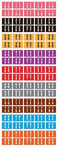 - ACME COMPATIBLE AVD-SET Double Digit Permanent Color Code Label, Mylar, Numeric,