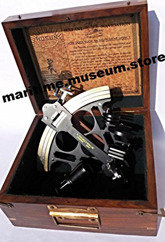8-Inch-Royal-British-Admirals-Sextant-with-Micrometer-Drum