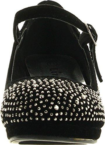 Girls Dress Pumps Rhinestone Kids Heel Link Black Dana Platform 53K dZCWqpR