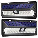 InnoGear Upgraded 62 LED Solar Lights Outdoor Motion Sensor Wall Light Auto On/Off with 3 Modes Outdoor Waterproof Security Lights Night Light for Wall Fence Deck Yard Garage Driveway, Pack of 2