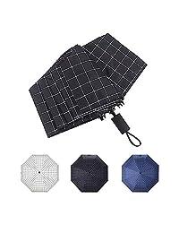 Paraguas Protección Solar Spf 50+ Bloque UV Sombrilla Paraguas de viaje plegable (Negro)