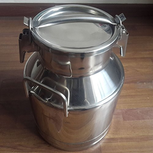 Wotefusi Goat Milk Bucket Heavy Duty Stainless Steel Sealed Capacity 50L Milk Water Tea Wine Liquid Collecting Storage Transport Tank Container Barrel by Wotefusi