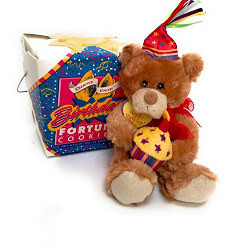- Happy Birthday Teddy Bear & Fortune Cookies Gift, Kosher & Nut Free American Made