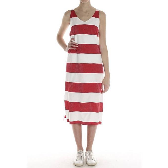 Kocca - Vestito - Donna bianco rosso M  Amazon.it  Abbigliamento cde287ec5d4