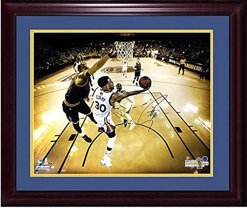 Stephen Steph Curry Autographed Signed Memorabilia 20X24 Lebron Finals Photo Framed Auto Steiner /30 - Certified Authentic