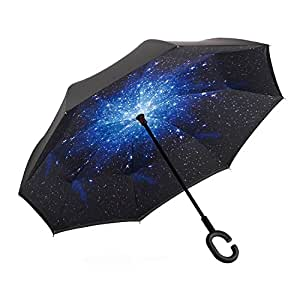 Amazon.com : FAREN Inverted Rain Umbrella Double Layer