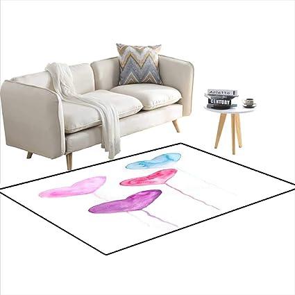 Amazon.com: Room Home Bedroom Carpet Floor Mat Sweet Colors ...