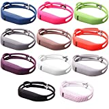 I-SMILE Colorful Replacement Bands with Metal Clasps for Fitbit Flex Wireless Activity Bracelet Sport Wristband Fitbit Flex Bracelet Sport Arm Band (No tracker - Replacement Bands Only)