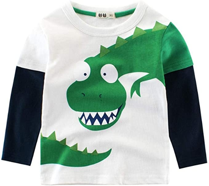 2-8 years old new boys long sleeve green shirt with tags