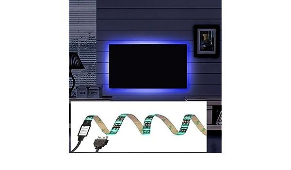 Resistente al agua 100 cm 5050 SMD 5 V USB RGB LED Tiras de iluminación KIT completo para iluminación de casa cocina armario TV PC y portátil Iluminación de fondo decoración: Amazon.es: Electrónica