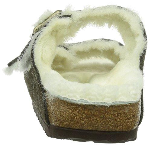unisex Lammfell Arizona Mocca Zuecos Fur Birkenstock Classic Braun x0pH5Iq