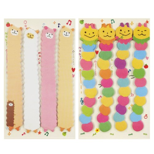 - Wrapables Bookmark Flag Index Tab Sticky Notes, Caterpillar and Silly Sheep, Set of 2