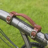 #7: Leather Mini Carry Handle For BROMPTON Handgrip Bike Bicycle Frame Carrying LIGHT BROWN