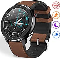 "Fullmosa Smart Watch for Android iOS,Fitness Tracker with Heart Rate Monitor,Activity Tracker with 1.3"" Full-Touch..."