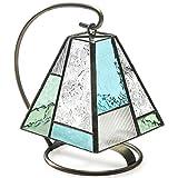 J Devlin Lam 710 Tiffany Stained Glass Mini Lamp Blue Green Accent Night Light Memory Light