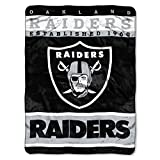 The Northwest Company Officially Licensed NFL Oakland Raiders 12th Man Plush Raschel Throw Blanket, 60