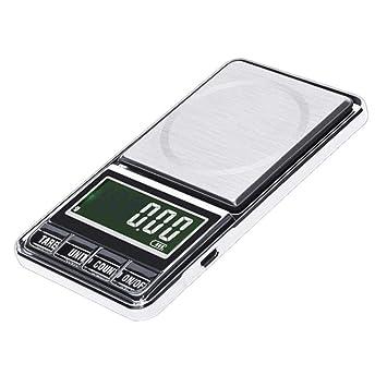 Báscula Digital de Bolsillo de Alta precisión, 600 g/0,01 g, báscula electrónica de pesaje con Pantalla LCD retroiluminada para joyería de Alimentos: ...
