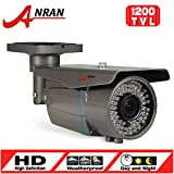 Cheap ANRAN HD 1200TVL Bullet Surveillance CCTV Camera 2.8-12mm Varifocal Lens High Resolution 72 IR LEDs IR Cut-120ft IR Night Vision Distance Weatherproof Outdoor Security Camera Aluminum Alloy Housing