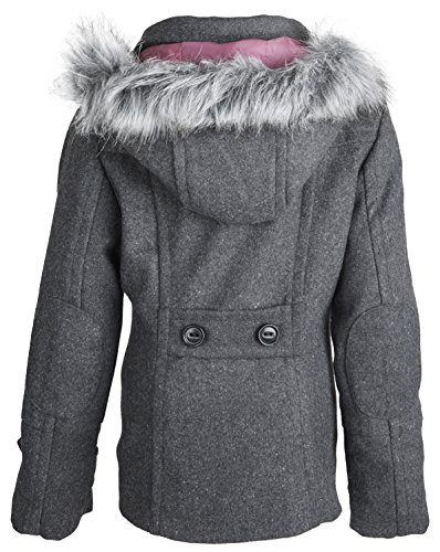 Dollhouse Big Girls Wool Dressy Pea Coat with Removable Hood ...