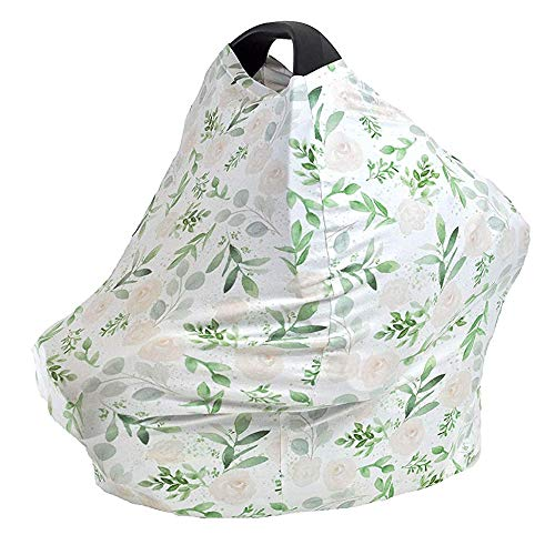 (Luxurious Nursing Cover in Ultra Plush Fabric, 5 Uses in 1 for Baby and Mom, Seat Cover & Scarf)