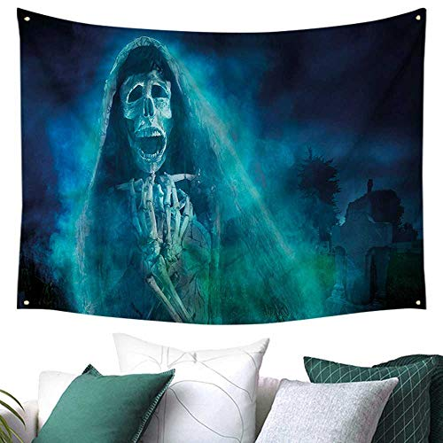 Anyangeight Halloween Dormitory Decorated Sand Tapestry Gothic Ghost