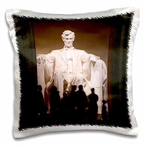 3dRose pc_143557_1 Use, Washington Dc, Abraham Lincoln Memorial Statue Us09 Lfo0237 Lee Foster Pillow Case, 16