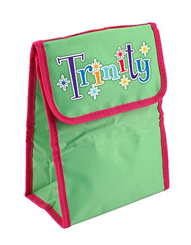 Dimension 9 Personalized Lunch Bag, Trinity, Green/Pink