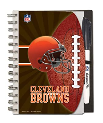Cleveland Browns Deluxe Hardcover, 5 x 7 Inches Autograph Book and Pen Set, Team Colors (12025-QRU)