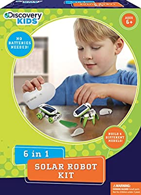 Discovery Kids 6-In-1 Solar Robot Kit Educational Toy