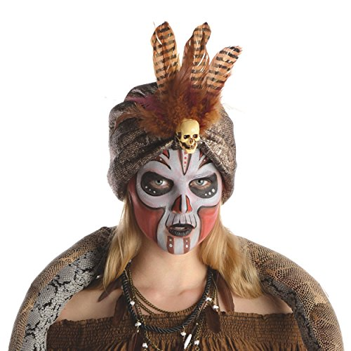 Witch Doctor Turban Costume Accessory (Witch Doctor Mask)
