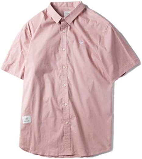 Camisa De Manga Corta, Más El Tamaño De La Chaqueta Bordada Camisa, De Manga Corta Camiseta