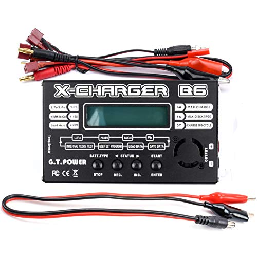 G.T.Power LiPo Battery Charger LCD Display Digital Balance Charger Discharger for 1-6S LiPO/Li-ION 1-15S NiCD/NiMH RC Battery