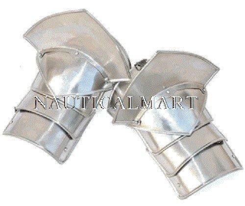 Nauticalmart Women's Pauldrons With Sword Breakers- 20 Gauge Steel by