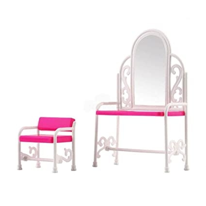 super1798 Dressing Table Chair Furniture Accessories Set for Barbie Dolls Toy House - Pink  sc 1 st  Amazon.com & Amazon.com: super1798 Dressing Table Chair Furniture Accessories Set ...