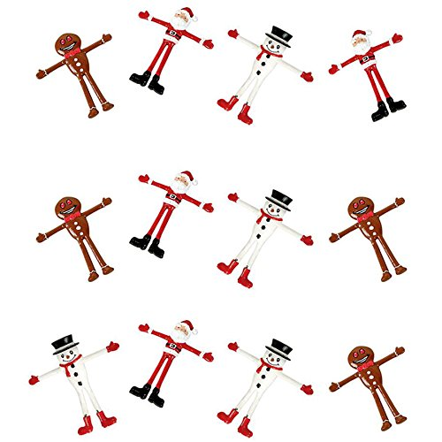 Bendable Christmas Figures : package of 12 (Figure Christmas)