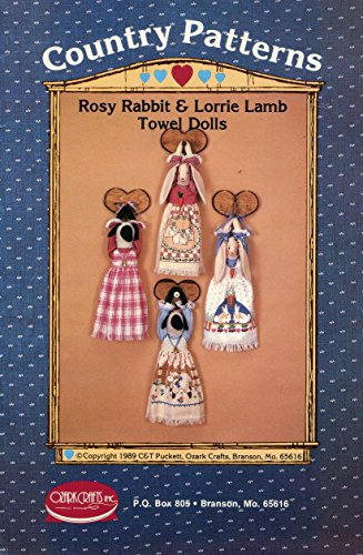 - Ozark Crafts Country Patterns 413 Rosy Rabbit and Lorrie Lamb Towel Dolls