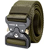 "AIZESI Men's Tactical Belt,Military Style Webbing Belt 1.5"", Nylon Belts Heavy Duty Quick-Release Suitable Outdoor Activities"