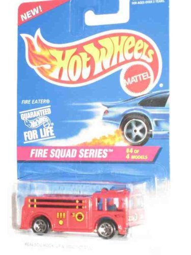 Fire Squad Series #4 Fire Eater 5-Spoke Wheels #427 Collectible Collector Car Mattel Hot Wheels 1:64 -