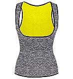SHAPERX Women's Sweat Vest Neoprene Waist Trainer Vest Sauna Hot Slimming Body Shaper Weight Loss,SZ8017-Gray-L