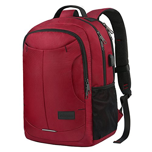 Travel Outdoor Computer Backpack Laptop bag 15.6''(red) - 1