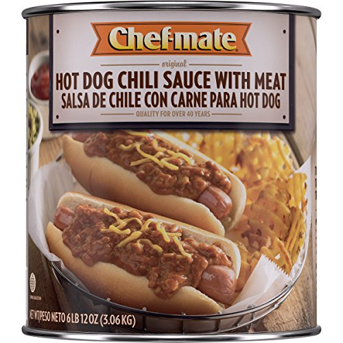 Chef-mate Hot Dog Chili, 6-lb (Beef Hot Dog)