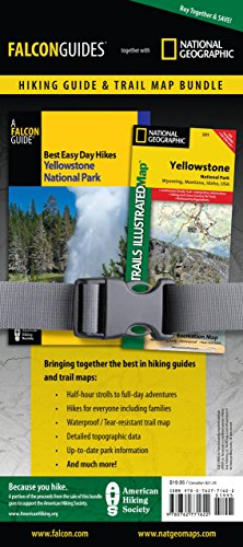 Best Easy Day Hiking Guide and Trail Map Bundle: Yellowstone National Park (Best Easy Day Hikes Series) (Best Trails In Yellowstone)