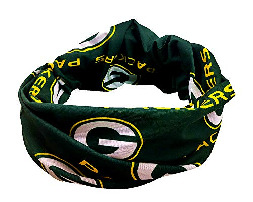 Gloral HIF Green Bay Packers Magic Headband Sports Headwear Elastic Face Mask Bandana Scarf UV Resistence Head Wrap - Cycling, Fishing, Running, Hiking, Camping